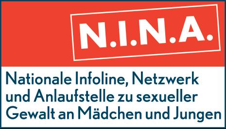 Logo der Nationalen Infoline, Netzwerk und Anlaufstelle zu sexueller Gewalt an Mädchen und Jungen (NINA).