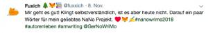 Tweet zum Thema Nano auf meinem Twitter Feed Fuxxich.