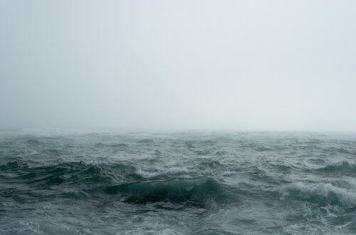 Visualisierung: Stürmische See im Nebel